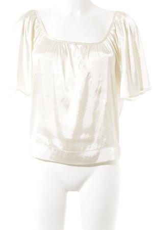 Promod Kurzarm-Bluse creme Elegant