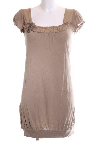 Promod Kurzarmkleid nude Vintage-Look