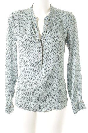 Promod Langarm-Bluse abstraktes Muster Glitzer-Optik