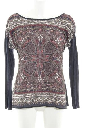 Promod Langarm-Bluse Aztekenmuster College-Look
