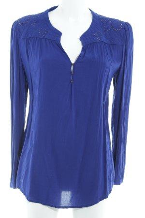 Promod Langarm-Bluse blau Elegant