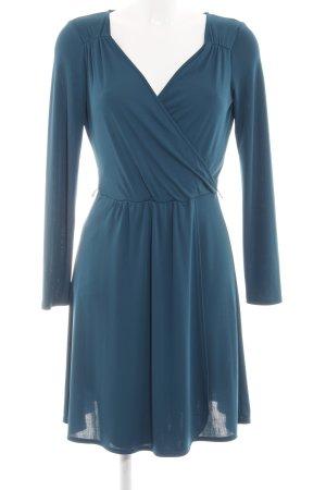 Promod Langarmkleid blau Casual-Look
