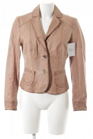 Promod Leather Jacket apricot casual look