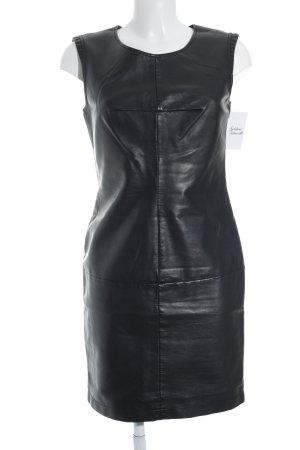 Promod Leren jurk zwart elegant