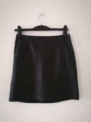 Promod Falda de cuero de imitación negro