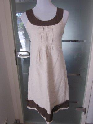 Promod Leinen Kleid Beige Braun Vintage Gr S