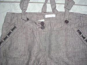PROMOD Leinenhose, abknöpfbare Träger, grau-gestreift, neuw. Gr.36