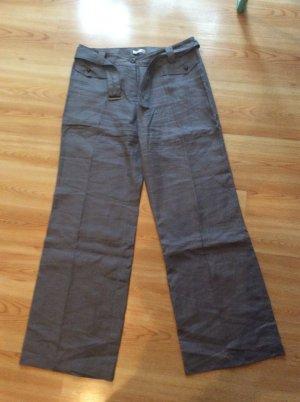 Promod Pantalón de lino gris oscuro