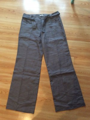 Promod Pantalone di lino grigio scuro