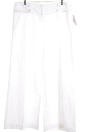 Promod Pantalón de lino blanco puro-blanco look casual