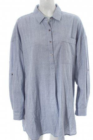 Promod Long-Bluse hellblau-wollweiß Streifenmuster Street-Fashion-Look