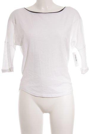 Promod Longsleeve weiß-schwarz Casual-Look