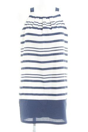 Promod Long Top white-dark blue striped pattern beach look