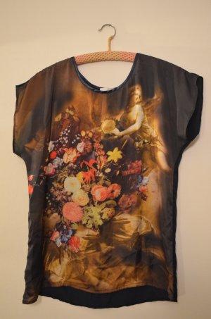 Promod Luftige Bluse mit Blumen-Bouquet Motiv