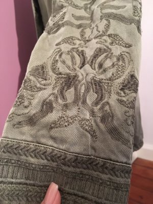 Promod Abrigo caqui-gris verdoso Algodón