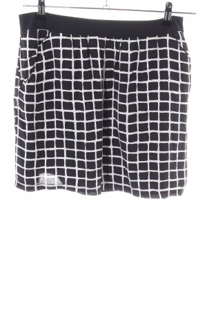 Promod Miniskirt black-white check pattern casual look