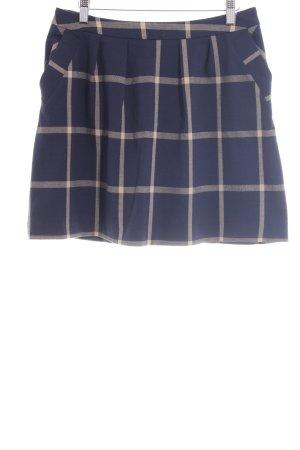 Promod Mini-jupe crème-bleu foncé motif à carreaux style anglais