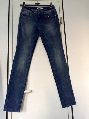 Promod Drainpipe Trousers steel blue