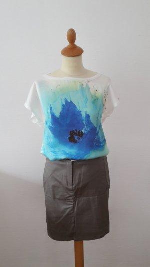 Promod Oversize Shirt S blauer Mohn creme wie neu