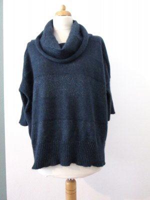 Promod Kimono Sweater dark blue-silver-colored