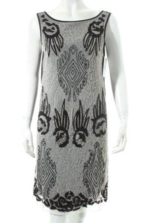Promod Pailettenkleid schwarz-weiß Eleganz-Look