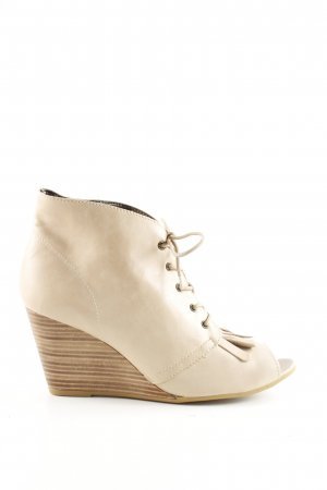 Promod Peep Toe Booties cream casual look
