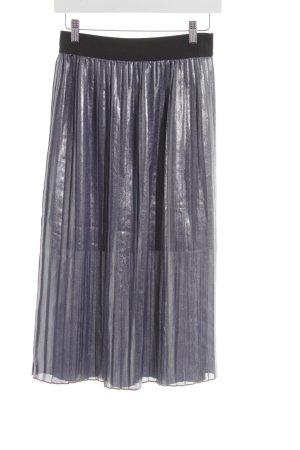 Promod Plisseerock silberfarben-schwarz Elegant