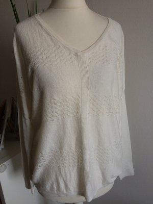 Promod Pulli neu 38 M weiß cremeweiß leichter Pullover