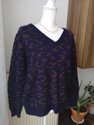 Promod Maglione di lana blu scuro