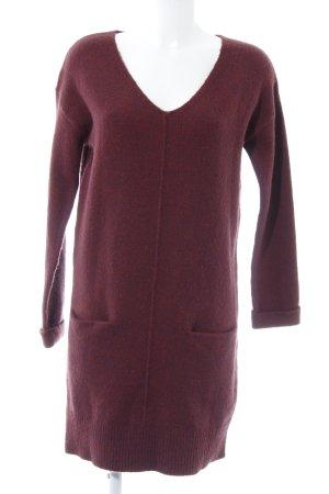 Promod Abito maglione rosso mora-bordeaux stile casual
