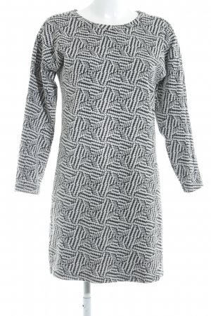 Promod Sweater Dress white-black houndstooth pattern casual look