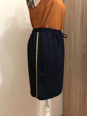 Promod Stretch rok donkerblauw