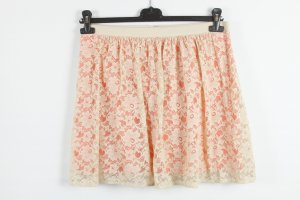 Promod Lace Skirt nude-natural white mixture fibre