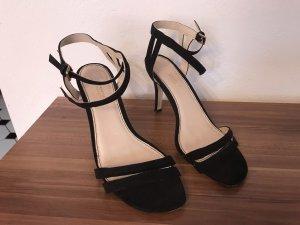Promod Strapped High-Heeled Sandals black