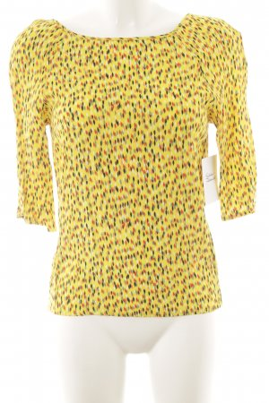 Promod Tie-neck Blouse spots-of-color pattern elegant