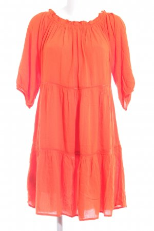 Promod schulterfreies Kleid neonorange Beach-Look