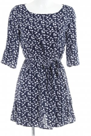 Promod Shirtkleid dunkelblau-weiß florales Muster Casual-Look