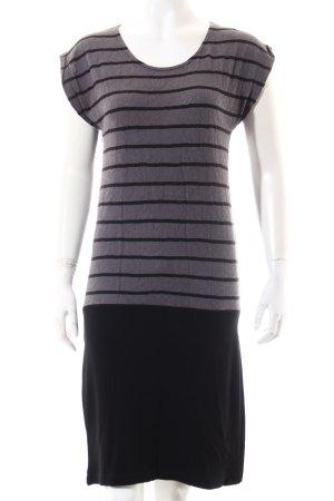 Promod Shirtkleid schwarz-grau Streifenmuster Casual-Look