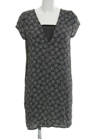 Promod Shirtkleid schwarz-weiß abstraktes Muster Casual-Look