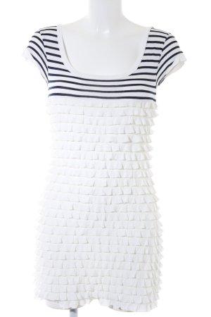 Promod Robe t-shirt blanc-bleu foncé motif rayé Look de plage