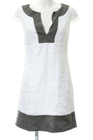 Promod Shirtkleid weiß-dunkelgrau Casual-Look