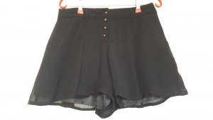 Promod Shorts Hosenrock schwarz bronze locker Chiffon Gr. 34