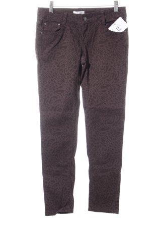 Promod Skinny Jeans dunkelgrau-schwarzbraun Animalmuster Animal-Look