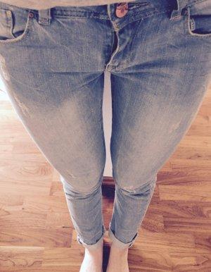 Promod Skinny Jeans in hellem Blau / Destroyed / S / 27 / 34/36
