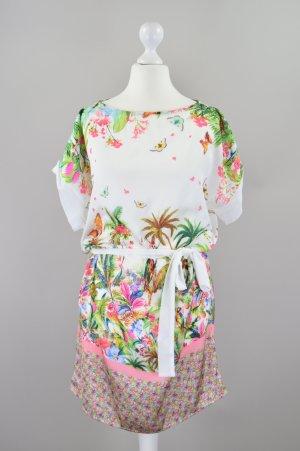 Promod Sommerkleid mit Muster mehrfarbig Größe S