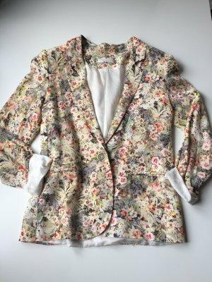 Promod, sommerlicher Blazer mit floralem Print, Gr.:34