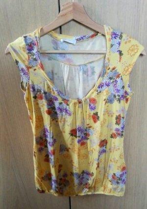 Promod sonnengelbes Blumenshirt