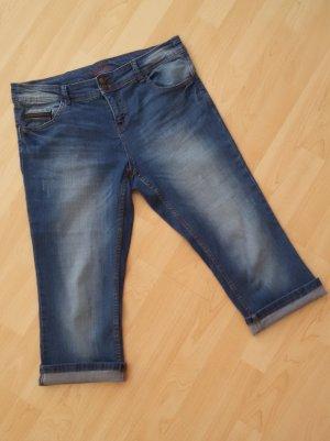 Promod Spanien 3/4 Jeans mit Gürtel blau mit Waschung