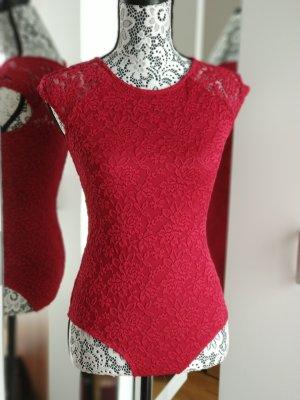 Promod Bodysuit Blouse dark red