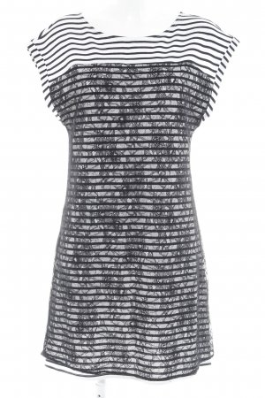 Promod Spitzenkleid schwarz-weiß florales Muster Lingerie-Look